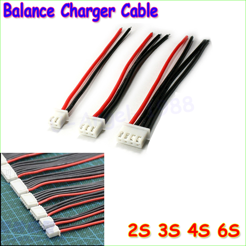 5pcs/lot 2S 3S 4S 5S 6S Lipo Battery Balance Charger Cable IMAX B6 Connector Plug Wire Wholesale jst xh 2s 3s 4s 5s 6s lipo balance cable charging power wire 10cm