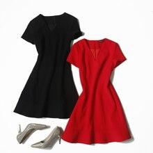Veydu, летнее элегантное женское платье с v-образным вырезом, коротким рукавом, длиной до колена, облегающее, облегающее, сексуальные, вечерние, для работы, для особых случаев, ТРАПЕЦИЕВИДНОЕ, ol платье