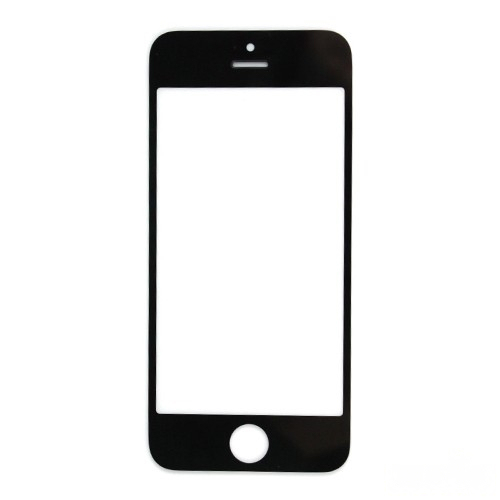 Black New Front Outer Glass Lens Cover Replacement Repair Parts For iPhone 5 5G Phone