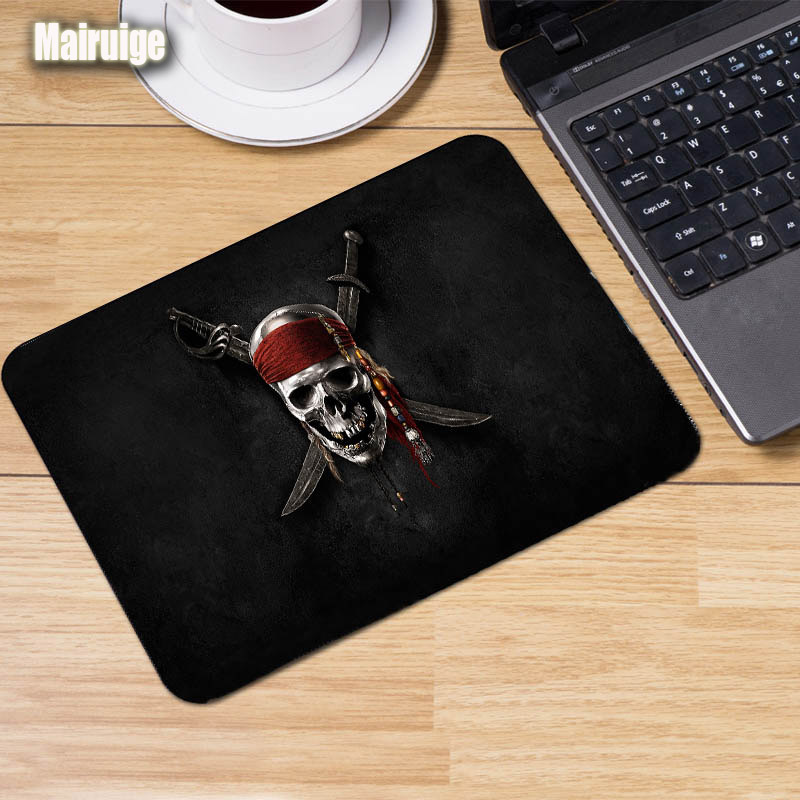 Mairuige Pirate Flag Pirates of The Caribbean Mouse Pad Gaming Pad Game Mouse Pc Laptop Keyboard Mice Mat Rubber Anti-skid Pad