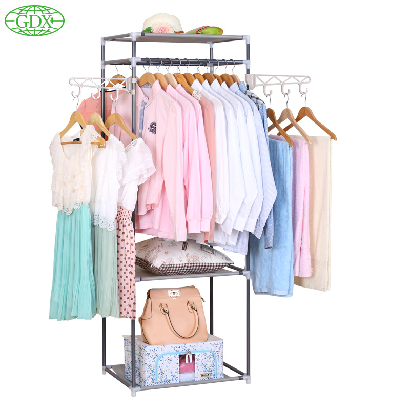 GDX Multi functional Coat Closet 2 Hangers Storage Holder