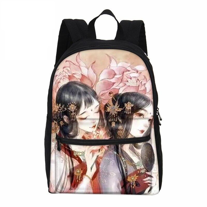 VEEVANV Canvas Backpacks Shoulder-Bags Children Rucksack Anime Girls Casual Fashion