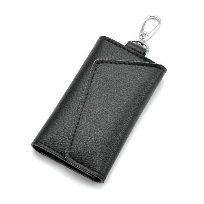 Business Card Holder Wallet 100% Genuine Leather Key Bag Unisex Solid Organizer Bag Men s Wallet Car Housekeeper Wallet QB67
