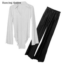 2016 Men/Boy Latin Dance Dress 2 Pcs Tops&Pants Drill Clothing For Dance Adult/Children Ballroom/Rumba/Samba/Cha Cha Dance Wear