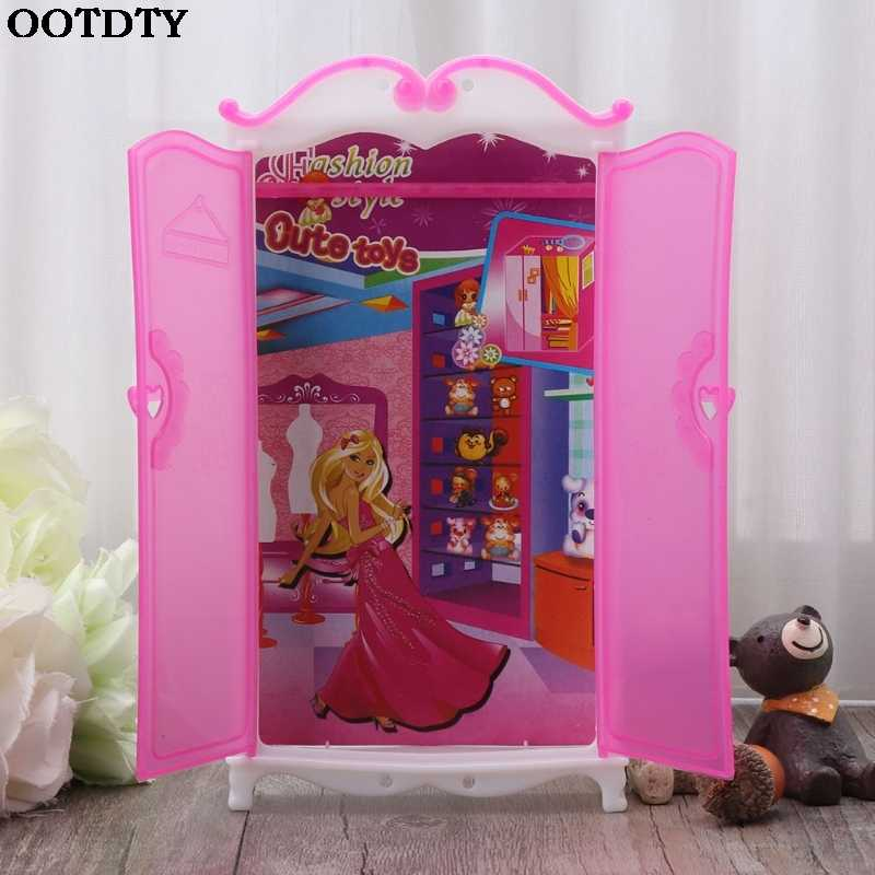Princess Furniture Wardrobe Barbie Dolls Toys Doll House Closet Toy Accessories