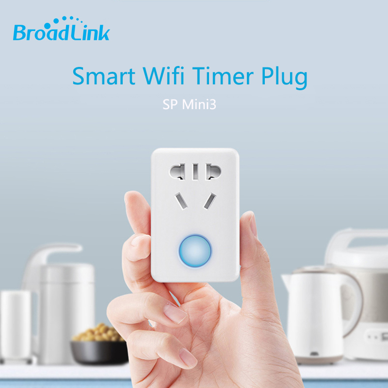 2017 Broadlink SP mini3 Wifi Smart Socket,Plug+timer+extender 10A Wireless Remote Control Smart Home Automation Via Android ios broadlink honyar wifi power strip socket with usb port extension socket remote control by ios android smart home ac100 240v 10a