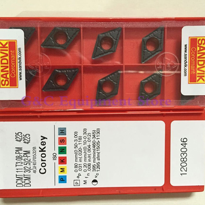 NEW SANDVIK DCMT11T308-PM 4225 Carbide INSERT CNC FOR steel 10PCS