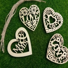 10pcs Wooden Letters + rope carved letters, home decorations, pendants, wedding Christmas gifts