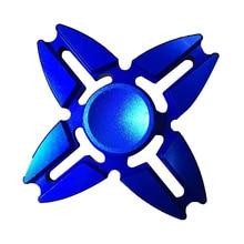 สามารถที่ดีที่สุดขาย4ขาปูA Lumimumมือนิ้วปินเนอร์อยู่ไม่สุขโต๊ะโฟกัสของเล่น3Dสีฟ้า