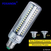 Foxanon Honest Wattage Lumen 5W 7W 9W 15W 20W 25W LED lamp Corn Bulb 110V 220V E27 E14 Aluminum Cooling 5736 LED Spot light(China)