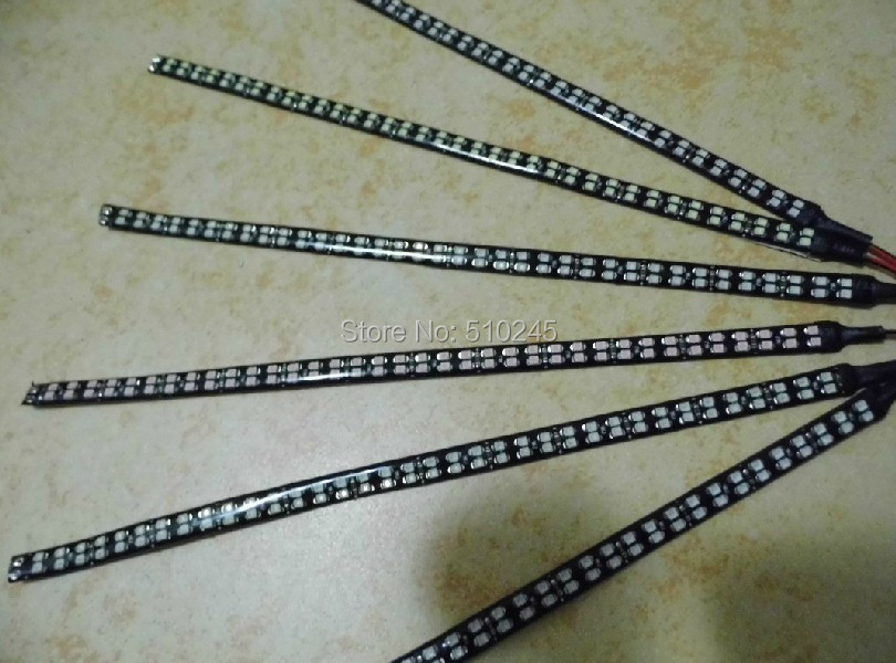 30X new arrival 30cm 3528 SMD 72 LED Flexible Strip LED Daytime Running Light Waterproof Car Decorative strip Light Bar lamp