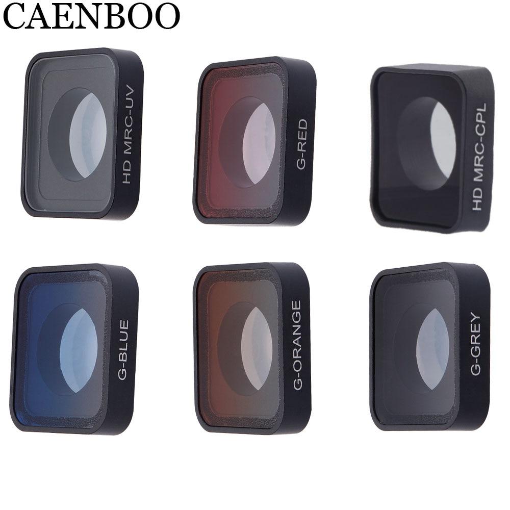 Caméra de Sport CAENBOO CPL Polar UV couleur filtre étanche extérieur verre plongée pour Gopro Hero 2018/6/5 noir Go pro Hero5/6/2018
