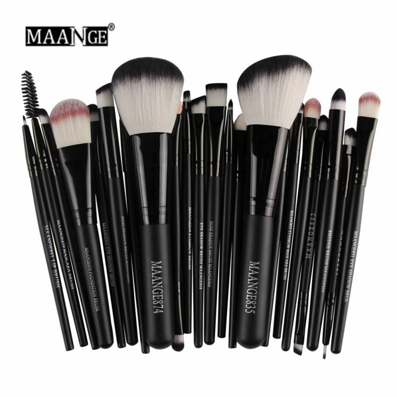 MAANGE 22 st Pro Makeup Brush Kit Pulver Foundation Ögonskugga Eyeliner Lip  Make Up Borstar Set Beauty Tool. 2aa90e735e994