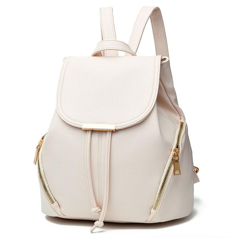 Femme sacs concis loisirs doux nouvelle mode Occident Style sacs à dos solide couleur blanc noir rose vin rouge sac