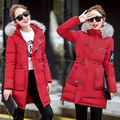 Q-IMAGE 2016 Winter Jacket Women Parka Fur Collar Thickening Cotton Padded Winter Coat Manteau Femme