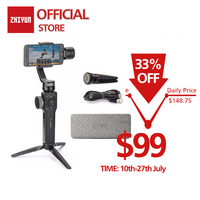 ZHIYUN Official Smooth 4 3 Axis Handheld Gimbal Portable Stabilizer Camera Mount for Smartphone Iphone Action Camera