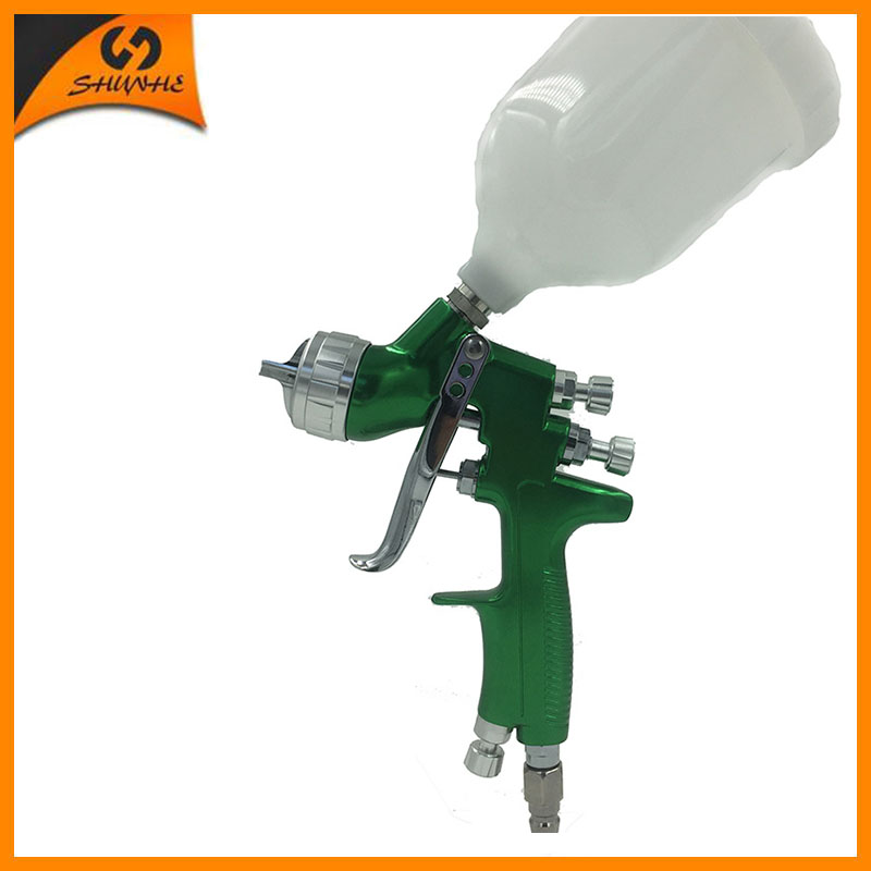 SAT1164 nozzle 1.4mm spray gun for painting hvlp spray paint gun tank high pressure spray gun cup hd 2 hvlp devilbiss spray gun gravity feed for all auto paint topcoat and touch up with 600cc plastic paint cup