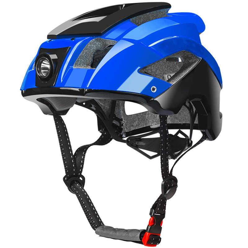 ROCKBROS casque de lumière de vélo intégré moulé phare de vélo casque de cyclisme sport sécurité hommes femmes vtt casque de vélo équipement