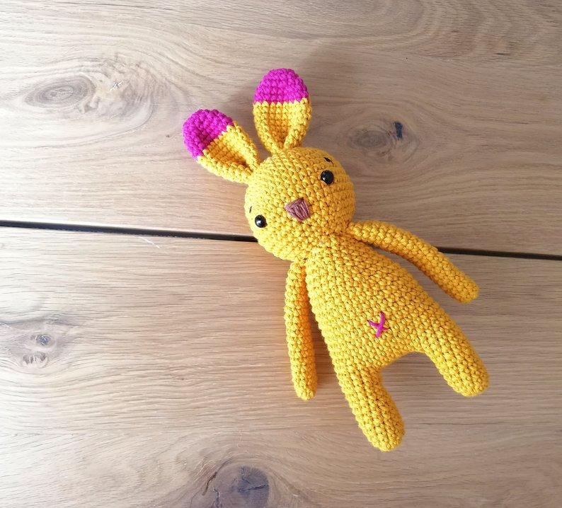 Crochet Toys  Amigurumi  Rattles  Doll Bunny  Model  Number  SBY0026