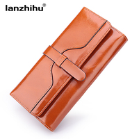Women S Genuine Leather Wallet Long Organizer Wallets For Women Design Woman Real Leather Clutch Credit