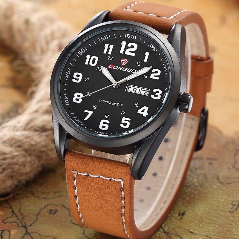 LONGBO Fashion Quartz font b Watch b font Men font b Watches b font Top Brand