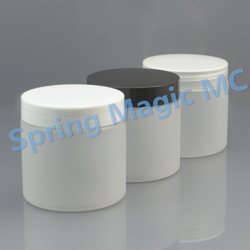 200g Frosted PET Cream Jars with black plastic lid for mask hair wax cream bottle plastic