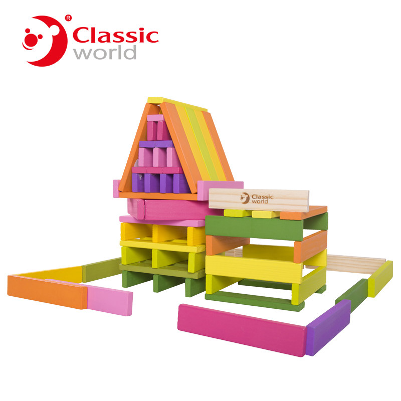 Classic World  100psc long Color Building Blocks Children's Toy For Color & Shape Identification Exerciseand classic world транспорт