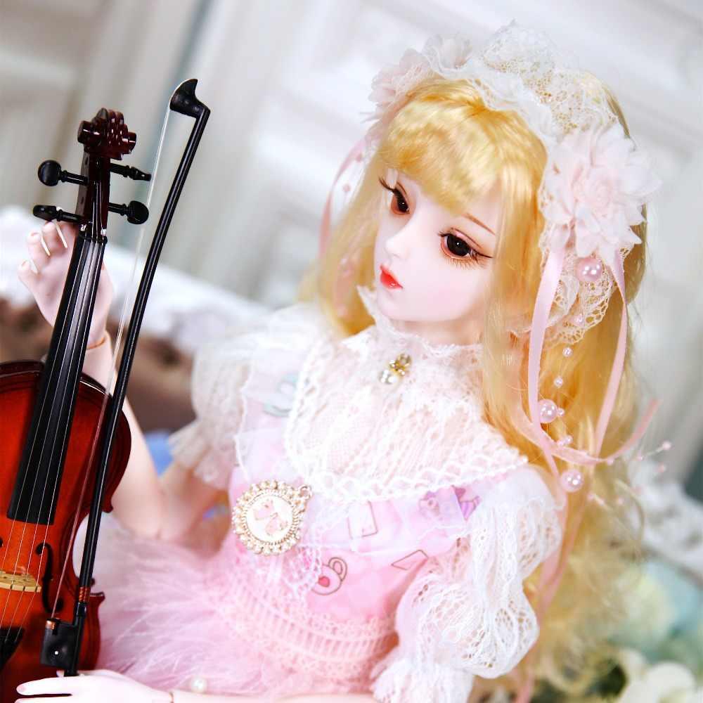 Fortuna dia 1/3 boneca bjd 62cm joint boneca corpo branco da pele com sapatos roupas cabelo cocar, AI YoSD MSD SD Kit Presente Do Bebê Brinquedo DC