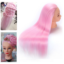 Pink Color Female hair styling mannequins Head High Quality free shipping training head
