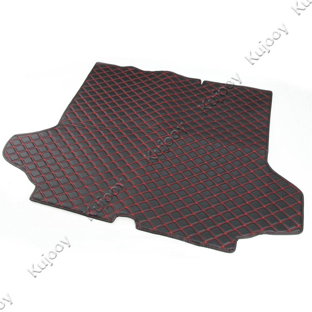 1 pièces tapis de coffre arrière en cuir de voiture protecteur de plancher de cargaison tapis de protection de pied pour Chevy Equinox 2017 + accessoires de style de voiture intérieure - 3
