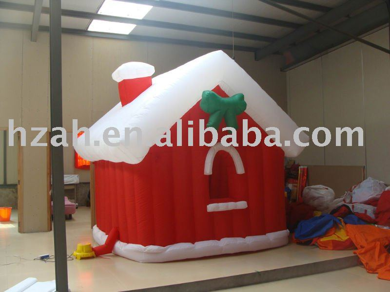Outdoor Xmas House Inflatable Xmas House for Christmas Decoration inflatable christmas ball for photo custom new year decoration pvc christmas festival inflatable snow globe for display