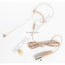 Low Profile Light-weight Headset Headworn Earhook Microphone For Sennheiser AKG Shure Wireless System MIC-J S90 Beige Omni цена и фото