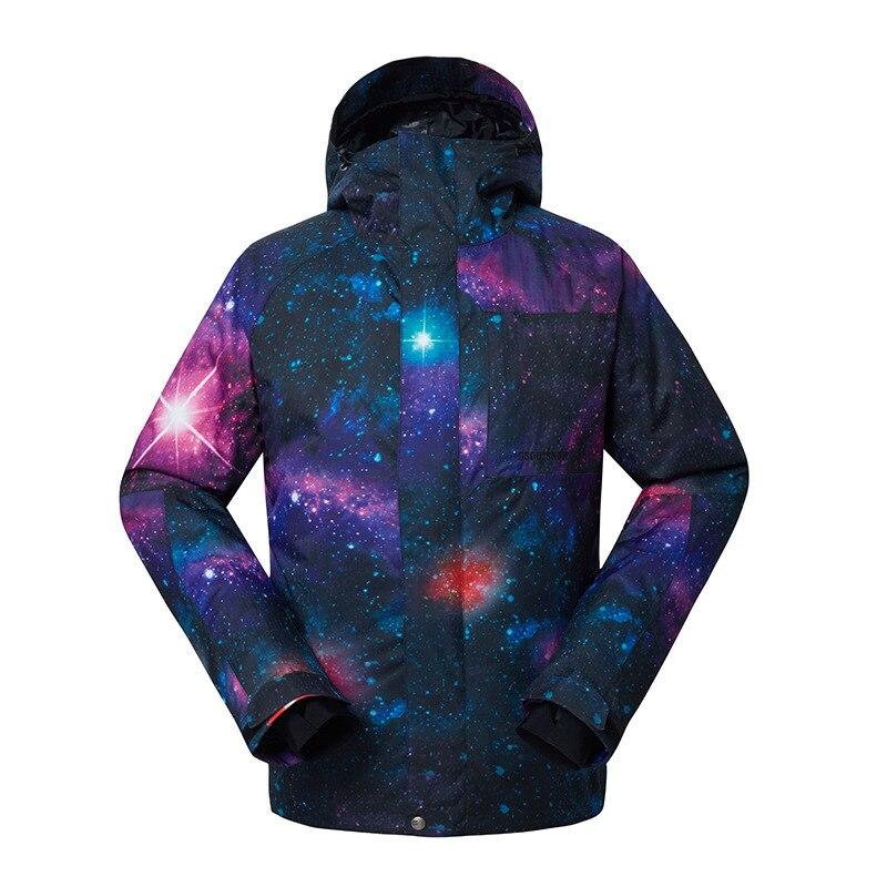 Gsou Snow combinaison de Ski homme simple Double planche veste de Ski extérieur résistant à l'usure chaud imperméable coupe-vent vêtements de Ski pour hommes