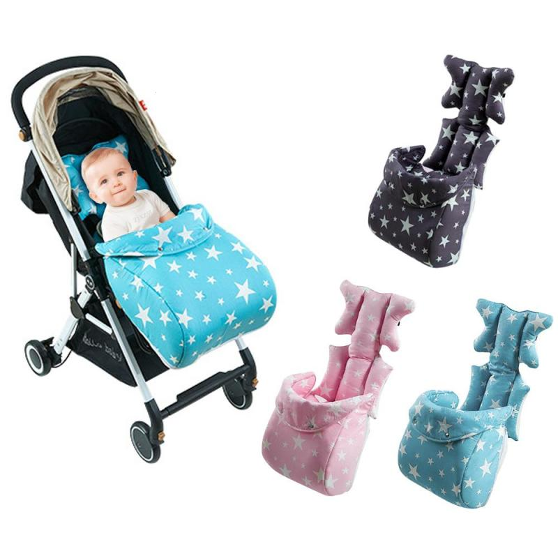 2018 New Anti-humpback Baby Cart Seat Cushion Thicken Polyester cotton Stroller Liner,Dining Chair Car Seat Stroller Cushion U2