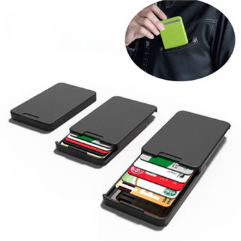 The Newest Ingenious Wallet BLACK with RFID Blocking Card The MINIMALIST INGENIOUS WALLET WITH RFID-BLOCKING for Drop Shipping