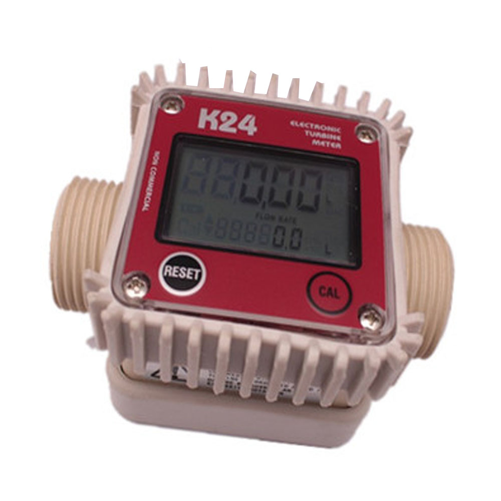 купить Flowmeter Digital turbine flow meter / methanol diesel petrol chemical liquid water with 1 inch external thread lcd flow meter дешево