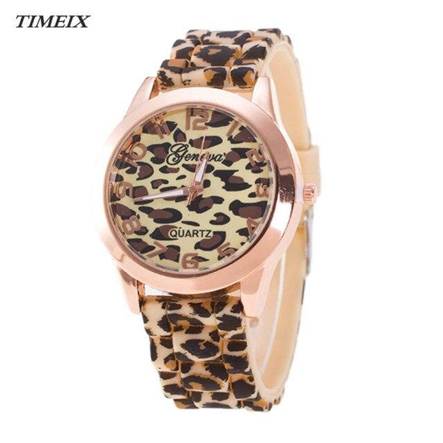 Geneva Leopard Wrist Watches Men Fashion Jelly Gel Quartz Watch Women Sport Sili