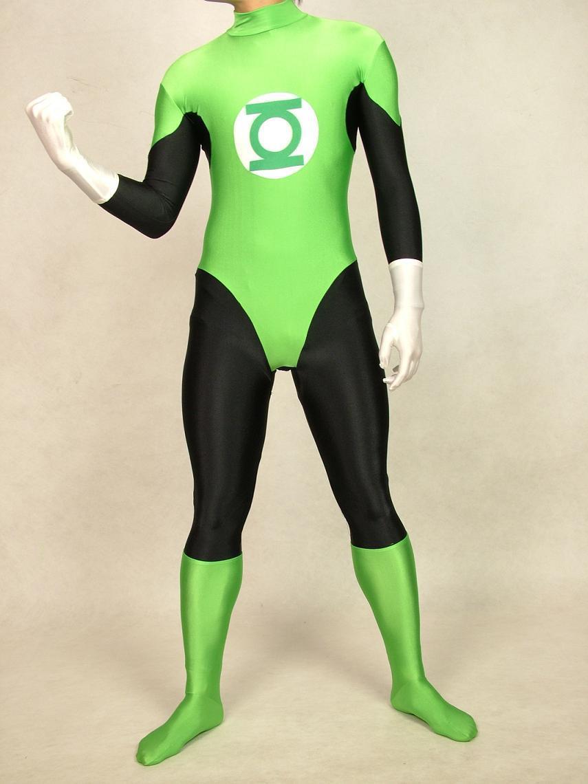 2018 Amazing Green Lantern Superhero Zentai Catsuit Costume For Woman Halloween Costume