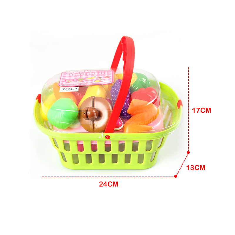 Baby Plastic Kitchen Set Cooking Toys Cutting Fruit Vegetables Food