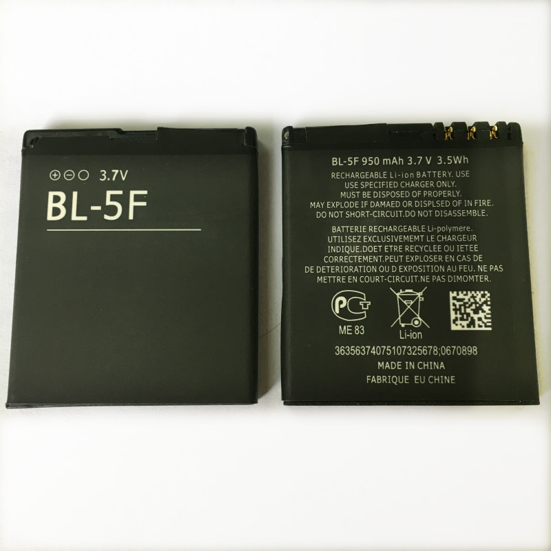 Battery 6290 N95 Nokia N78 E65 N93i N96 BL-5F for N95/N96/N98/.. 6210S/N 6710N C5-01 title=