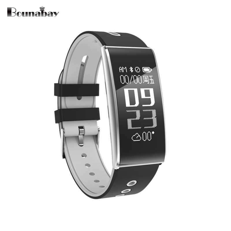 BOUNABAY Heart Rate Bluetooth watch men watches men's for apple ios Android phone man track clocks wifi touch waterproof watch