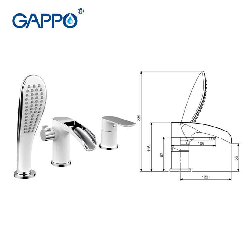GAPPO сплит-тип белый смеситель для ванны смеситель для воды спрей для массажа ручной душ элегантная ванная ванна кран для ванны душ