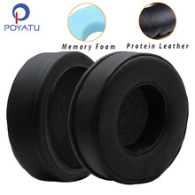 POYATU Ear Pads For Headphones Ear Cushions For Sennheiser HD435 HD 435 Earpads Headphone Ear Pads Replacement Cover Leather