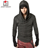 2017 New Fashion Hoodies Brand Men Stitching Connect Gloves Sweatshirt Male Men S Sportswear Hoody Hip