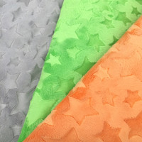 Free Shipping Minky Star Fabric 8 Colors In Stock Sold By Meter Used For Baby Blanket