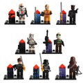 8pcs Star Wars Blocks Clone Figures Darth Vader Jedi Clone Troopers Chewbacca minifig Bricks Toys Compatible with Lepin StarWars