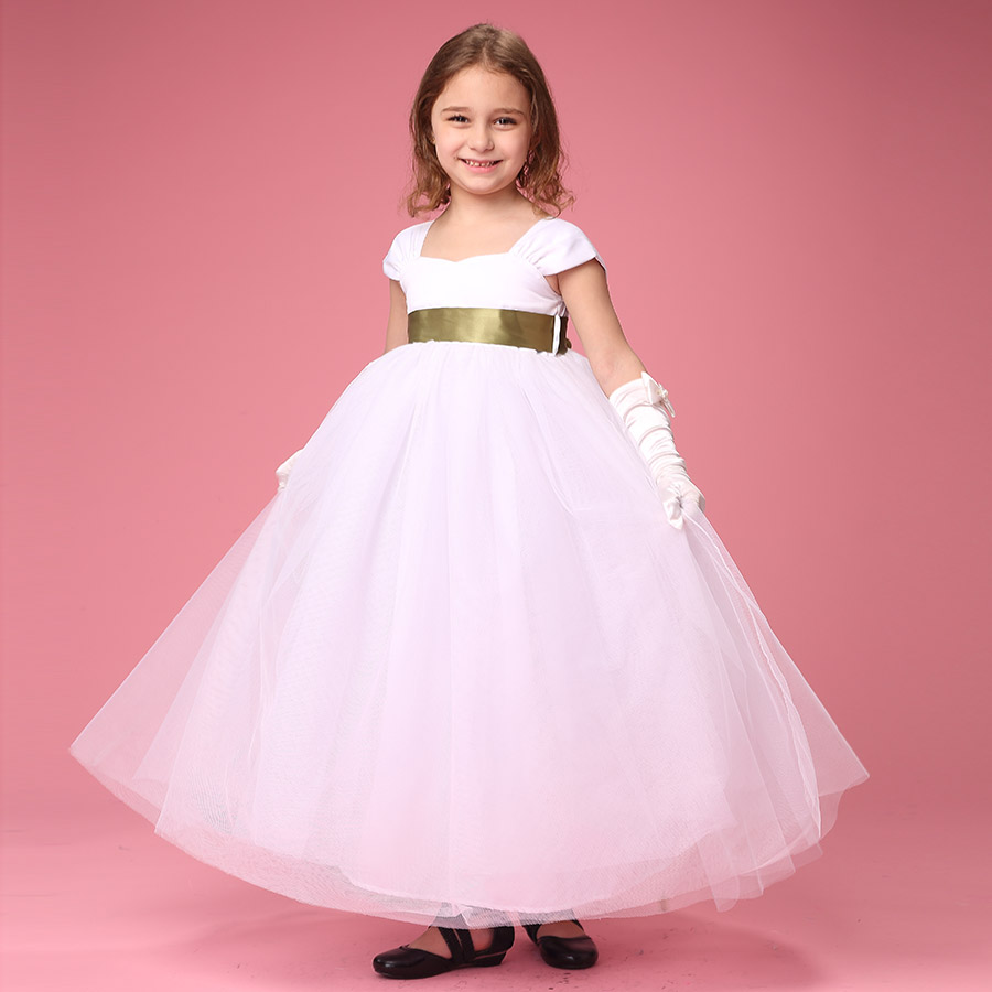 Girls bridesmaid dresses white promotion shop for promotional 6 color ribbon white beige flower girl dresses for wedding party easter junior bridesmaid white curl princess girl dress ombrellifo Choice Image