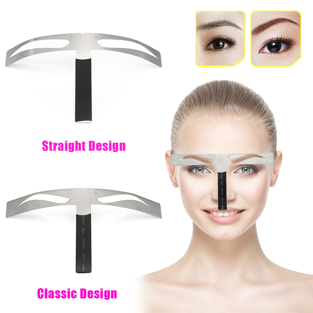 New Microblading Eyebrow Balance Ruler Metal Tattoo Shaping Stencil Permanent Makeup Caliper Measure Definition Grooming Tool 5