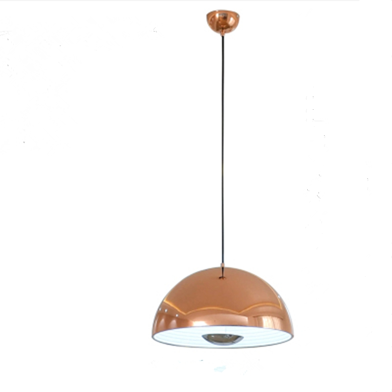 Regron Scandinavian Pendant Lights Rose Gold E27 Led Aluminum Hanging Lighting Modern Suspension Luminary For Restaurant Living