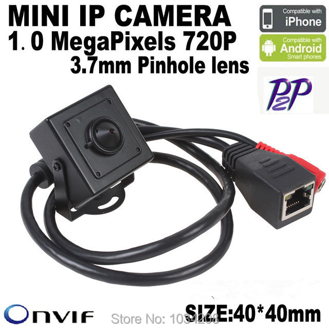 P2P Support Phone Watch Factory Wholesale 1.0 MegaPixels 720P 3.7mm Pinhole Lens H.264 Onvif Indoor MINI IP Camera For Bank ATM цена